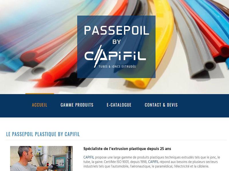 Catalogue en ligne passepoil plastique de Capifil, expert en plasturgie