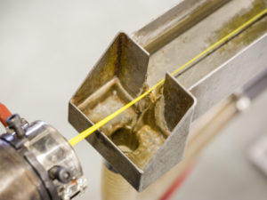 Ligne d'extrusion pour du filament 3D POM chez Capifil