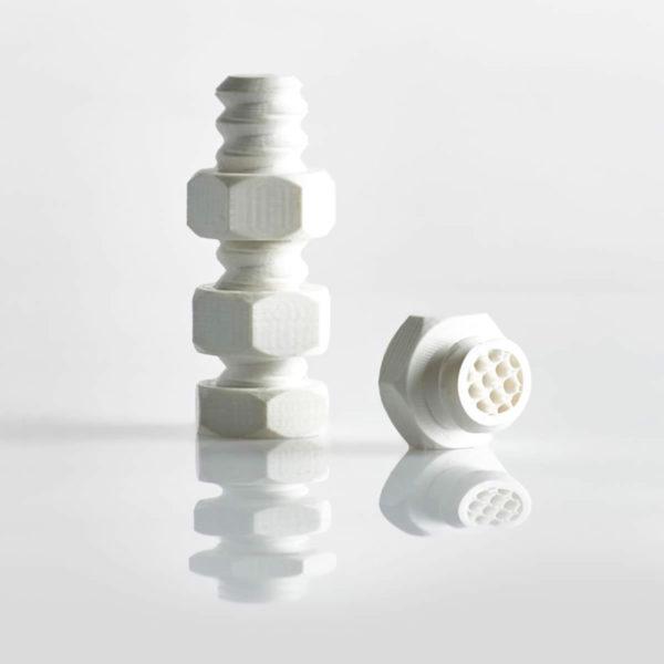 Objet ecrou-imprimante-3D_ABS Blanc-filament 3D CAPIFIL