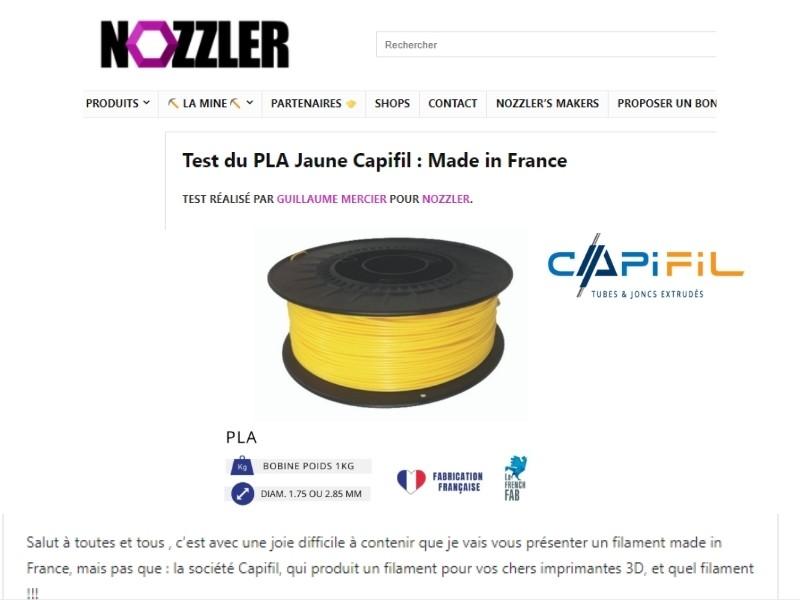NOZZLER - Test filament 3D Capifil