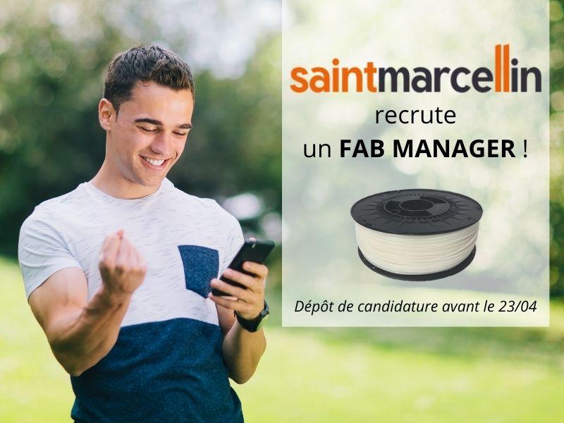 Actualité - Saint Marcellin recrute un FAB MANAGER - Capifil