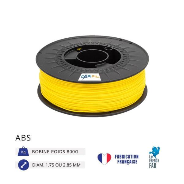 CAPIFIL - Fil imprimante 3D ABS 800G - Jaune
