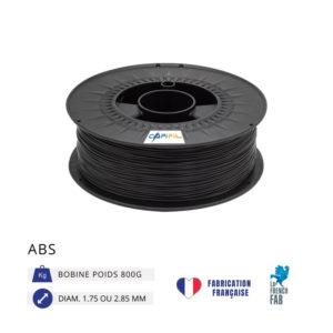 CAPIFIL - Fil imprimante 3D ABS 800G - Noir