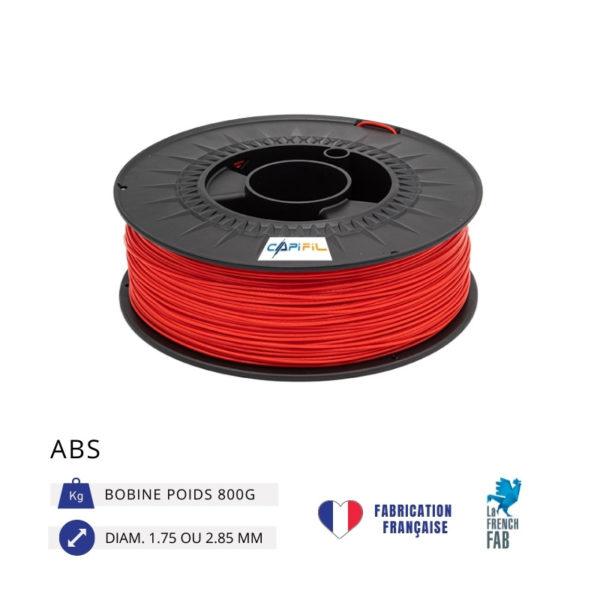 CAPIFIL - Fil imprimante 3D ABS 800G - Rouge