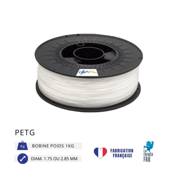CAPIFIL - Fil imprimante 3D PETG 1KG - Naturel
