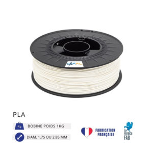 CAPIFIL - Fil imprimante 3D PLA 1KG - Blanc