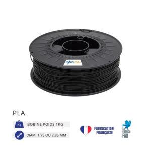 CAPIFIL - Fil imprimante 3D PLA 1KG - Noir