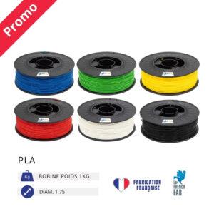 CAPIFIL - Fil imprimante 3D PLA 1KG - Promo bleu vert jaune rouge blanc noir