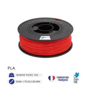 CAPIFIL - Fil imprimante 3D PLA 1KG - Rouge