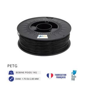 CAPIFIL - Fil imprimante 3D PETG 1KG - Noir