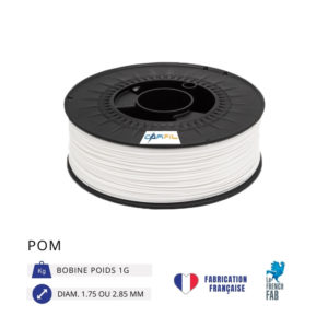 CAPIFIL - Fil imprimante 3D POM 1KG - Blanc