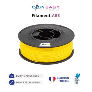 CAPIFIL-Filament 3D ABS 800g coloris jaune