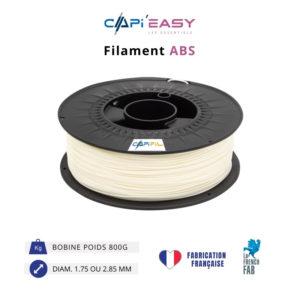 CAPIFIL-Filament 3D ABS 800g coloris naturel