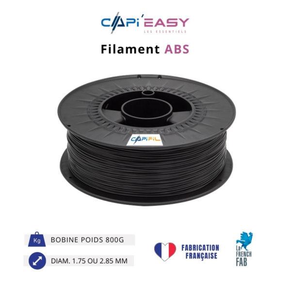 CAPIFIL-Filament 3D ABS 800g coloris noir