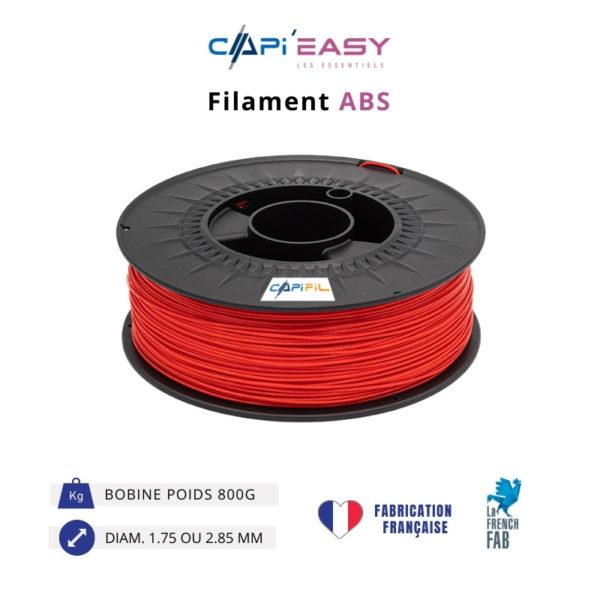 CAPIFIL-Filament 3D ABS 800g coloris rouge