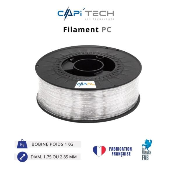 CAPIFIL-Filament 3D PC 1kg coloris naturel