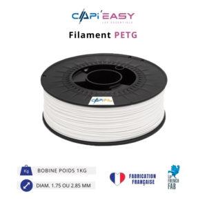 CAPIFIL-Filament 3D PETG 1kg coloris blanc