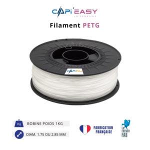 CAPIFIL-Filament 3D PETG 1kg coloris naturel