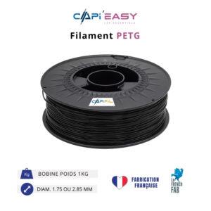 CAPIFIL-Filament 3D PETG 1kg coloris noir