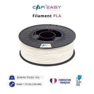 CAPIFIL-Filament 3D PLA 1kg coloris blanc