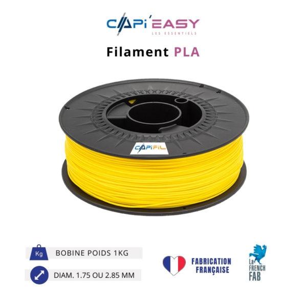 CAPIFIL-Filament 3D PLA 1kg coloris jaune