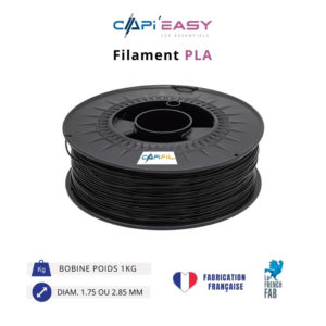 CAPIFIL-Filament 3D PLA 1kg coloris noir