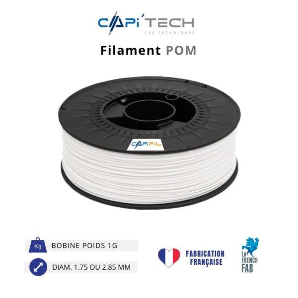 CAPIFIL-Filament 3D POM 1kg coloris blanc