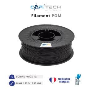 CAPIFIL-Filament 3D POM 1kg coloris noir