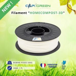 CAPIFIL - Filament HOMECOMPOST-3D 500 g coloris naturel