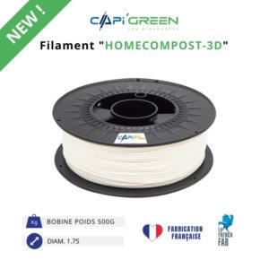 CAPIFIL-Filament HOMECOMPOST-3D 500 g coloris naturel