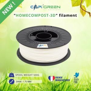HOMECOMPOST-3D 500g filament natural colour-CAPIFIL