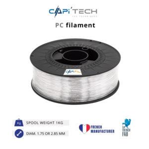 1 KG PC 3D FILAMENT PRODUCT in natural colour-CAPIFIL