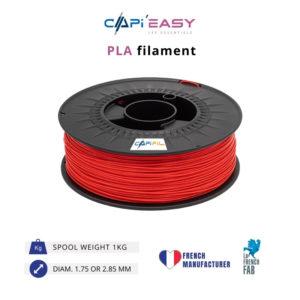 1 kg PLA 3D filament in red-CAPIFIL