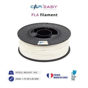 1 kg PLA 3D filament in white-CAPIFIL