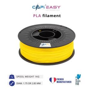 1 kg PLA 3D filament in yellow-CAPIFIL