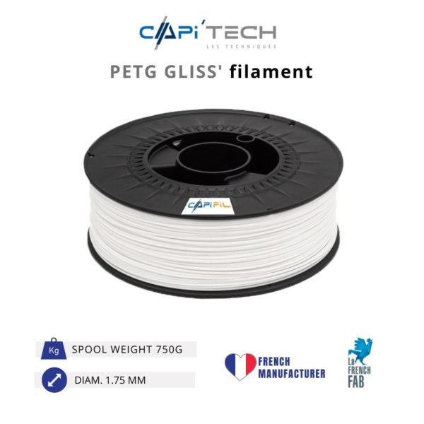 750 g GLISS' PETG 3D printing filament-CAPIFIL