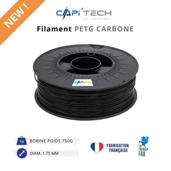 CAPIFIL-Filament 3D PETG CARBONE 750g-new