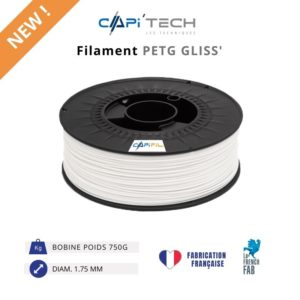 CAPIFIL-Filament 3D PETG GLISS' 750g-new